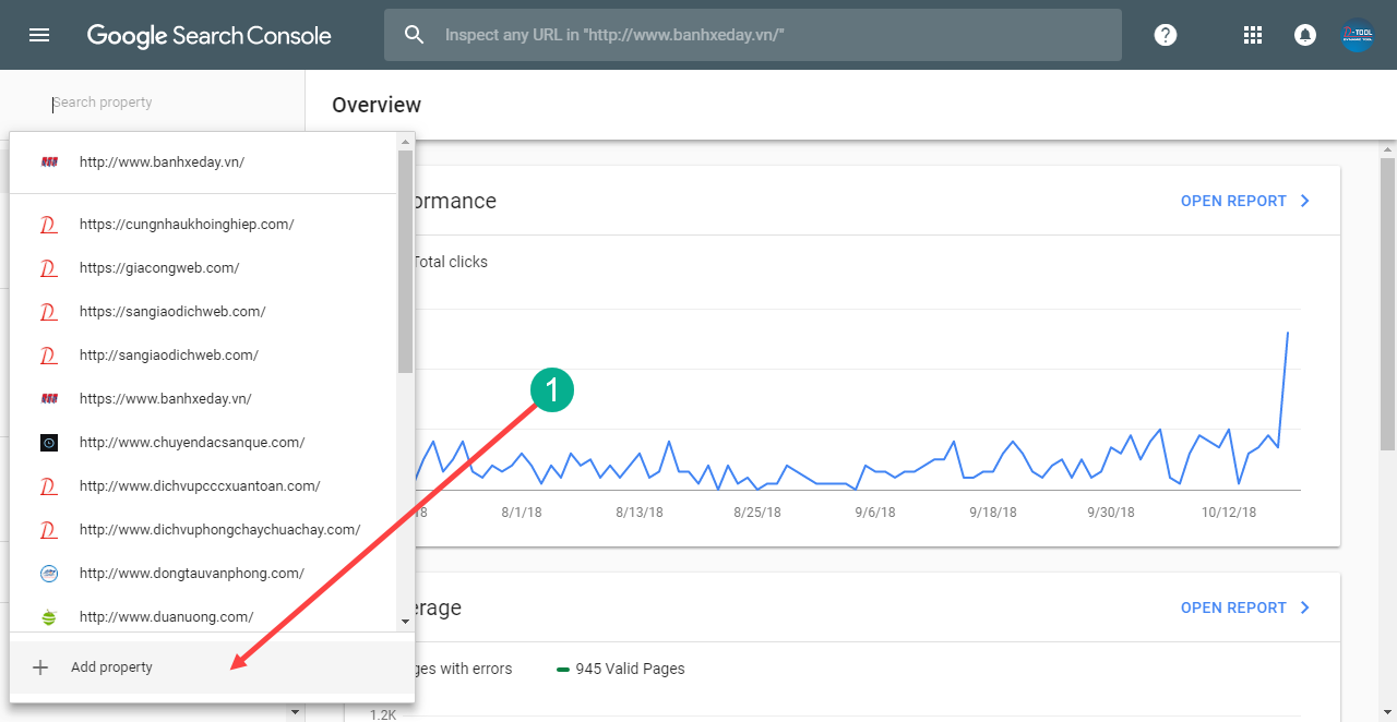 Thêm website vào Google Search Console